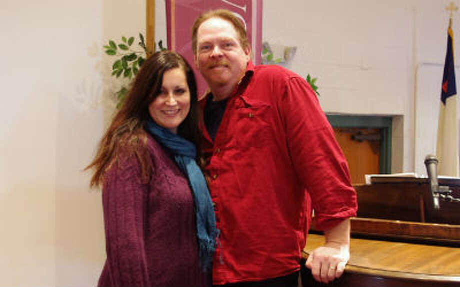 Patrick and Joanie Pointer, pastor and worship leader at the Manistee Assembly of God, are also working together to develop the MAGLight Theatre Company that they hope will involve members of many churches in the Benzie, Manistee and Mason county areas. (Dave Yarnell/News Advocate)