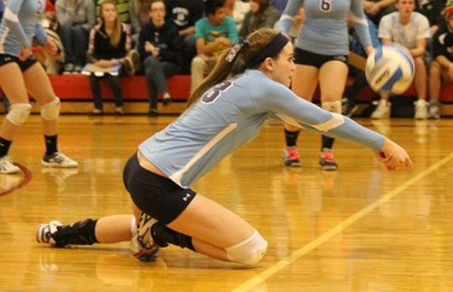 Brethren senior Annie MacNeil will play volleyball at Alma College. (Dylan Savela/News Advocate file photo)