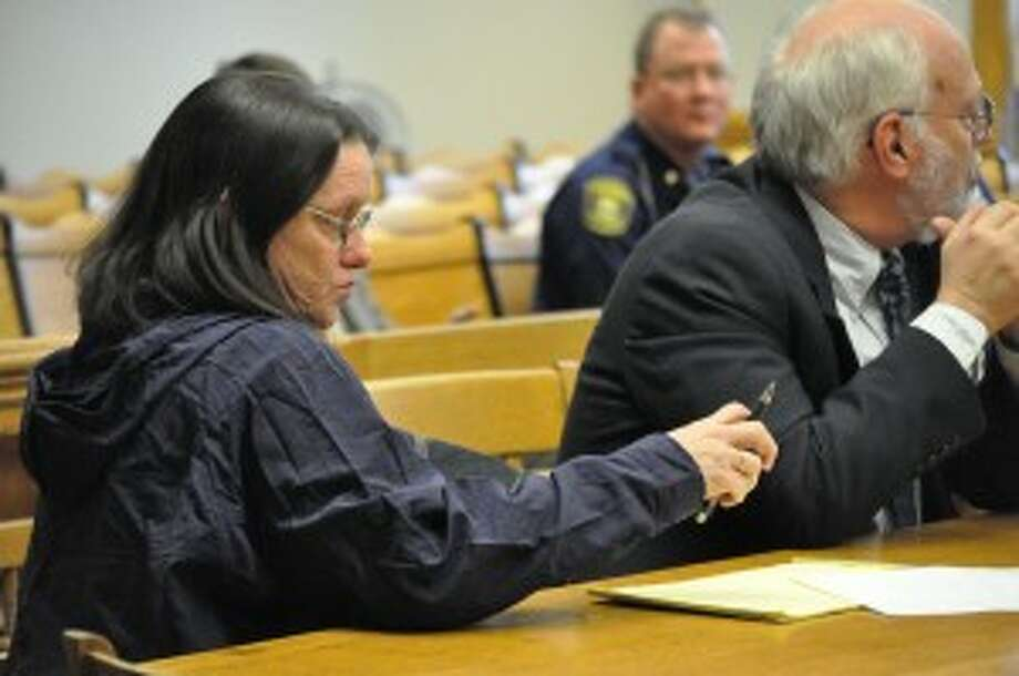 Tammi-Lynne Spofford pleaded no contest to accessory after the fact of the murder of Michigan State Police trooper Paul Butterfield on Tuesday in Mason County's 51st Circuit Court. (File photo)