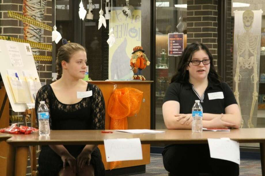 The Manistee Area Public Schools welcomed students Allie Zimmerman and Sarah Sheathelm as their student board representatives at Monday's meeting. The students will meet with a 15 member group at school and then bring ideas to the board of the education.