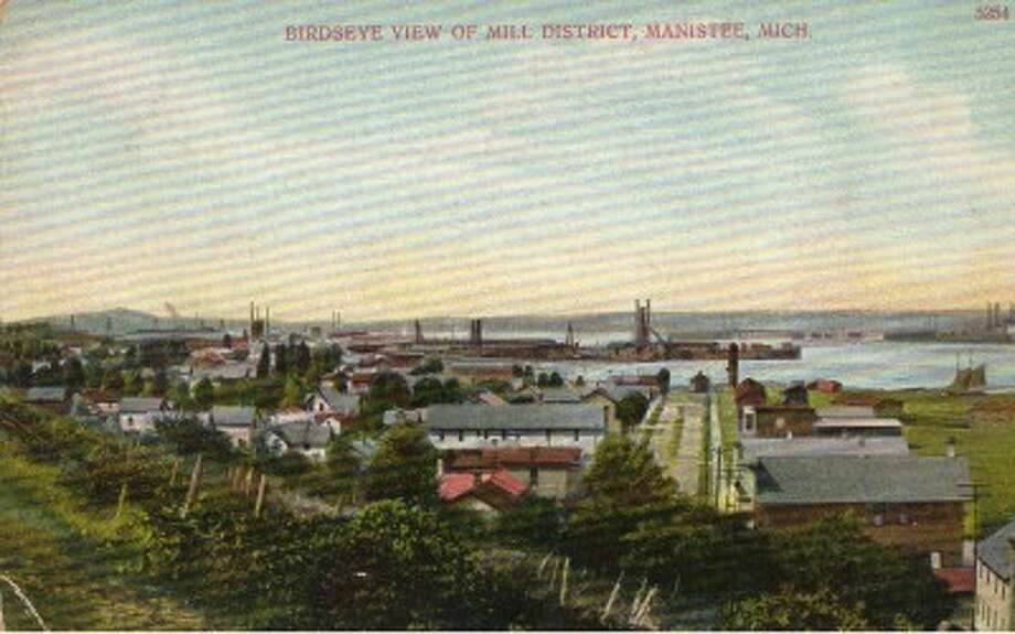The mills as they existed on Manistee Lake in the early 1900s. (Courtesy Photo/Manistee County Historical Museum)