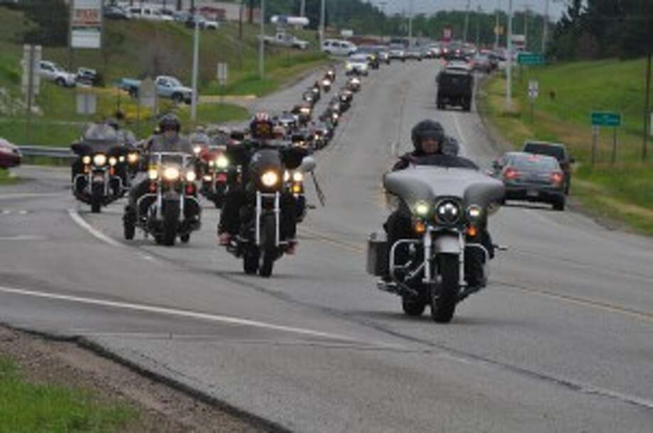 Sixty-seven riders escorted the Michigan Vietnam Memorial Wall from VFW Post No. 4499 to the Little River Casino Resort on Friday as part of the fifth annual Thunder at the River event.