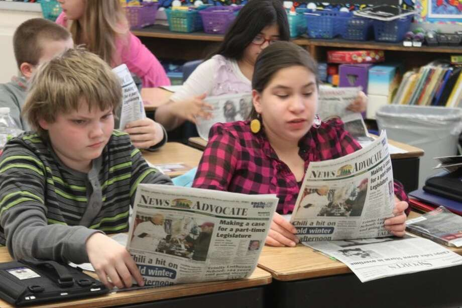 Kennedy Elementary School fifth grade students enjoy taking part in the Newspapers in Education program.
