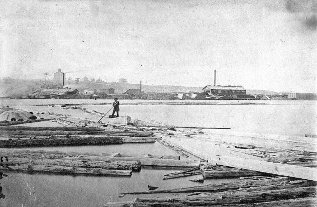 Back in the 1880s it was not uncommon to see many logs in Manistee Lake that had been floated down the Manistee River to be processed at the sawmills.