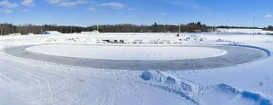 Vintage snowmobile races will be held at noon on Saturday at the Manistee County Fairgrounds.