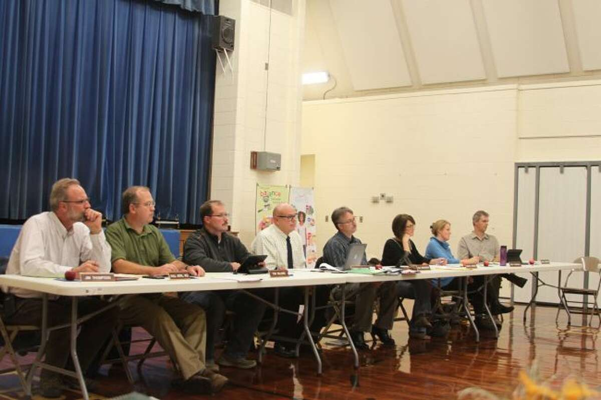 Members of the Manistee Area Public Schools Board of Education met at Madison Elementary School on Wednesday evening and hear a report from RIGHTside Design about the beginning of a news marketing plan.
