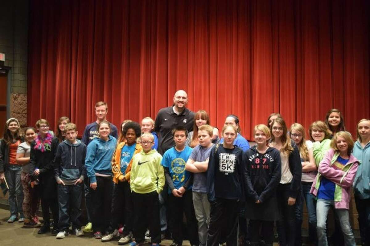 Motivational speaker Anthony Ianni recently spoke to students at Kennedy Elementary, Manistee High School and Brethren schools on how he has dealt with autism in his life. Ianni played college basketball at Michigan State University and learned how to succeed in life with his disorder.