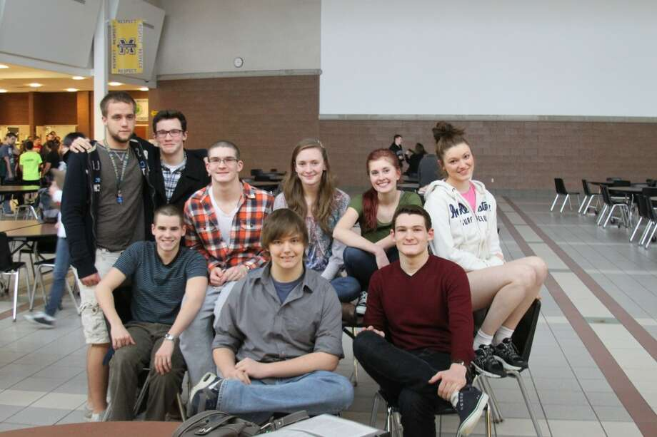 Pictured are members of the Manistee High School Youth in Government contingent who went to Lansing. Front row left to right) Zachary Reau, Michael Stypa and Chris Blevins. (back row) left to right are Jordan McArthur, Ed Postma, Cameron Blevins, Elizabeth Selbee and Annie DeVoe. (Ken Grabowski/News Advocate)
