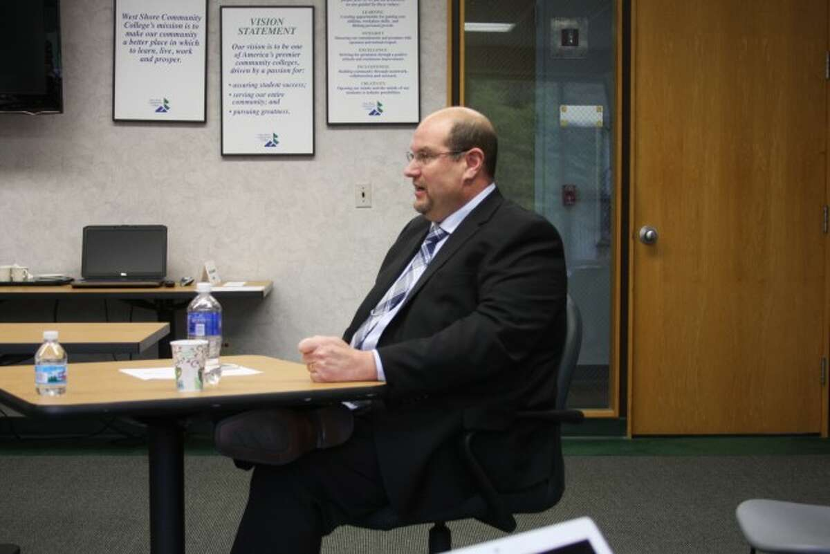 Robert Spohr who is a vice president at Montcalm Community College was one of the two candidates who interviewed for the open WSCC president position on Tuesday.