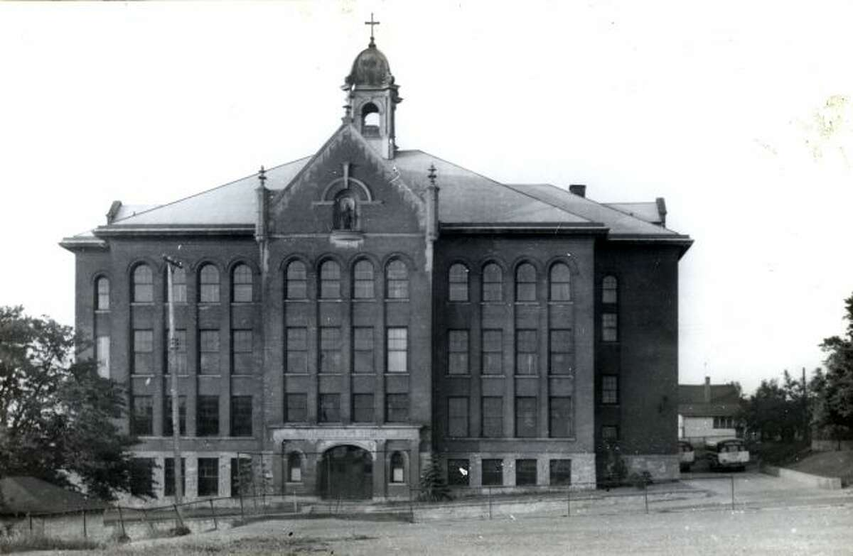 The St. Joseph's School in Manistee is shown in this photograph from the 1950s.