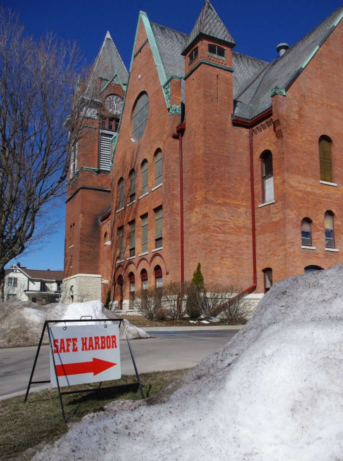 Safe Harbor concludes on Saturday morning. The program that gives homeless persons a nightly meal and a warm place to stay, rotates around churches and spent its final week at the First Congregational Church in Manistee. (Dave Yarnell/Staff Writer)
