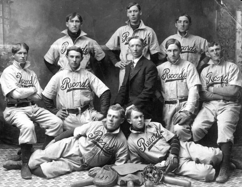 One of the many early baseball teams in Manistee was the Records who are shown in this photograph from the early 1900s.