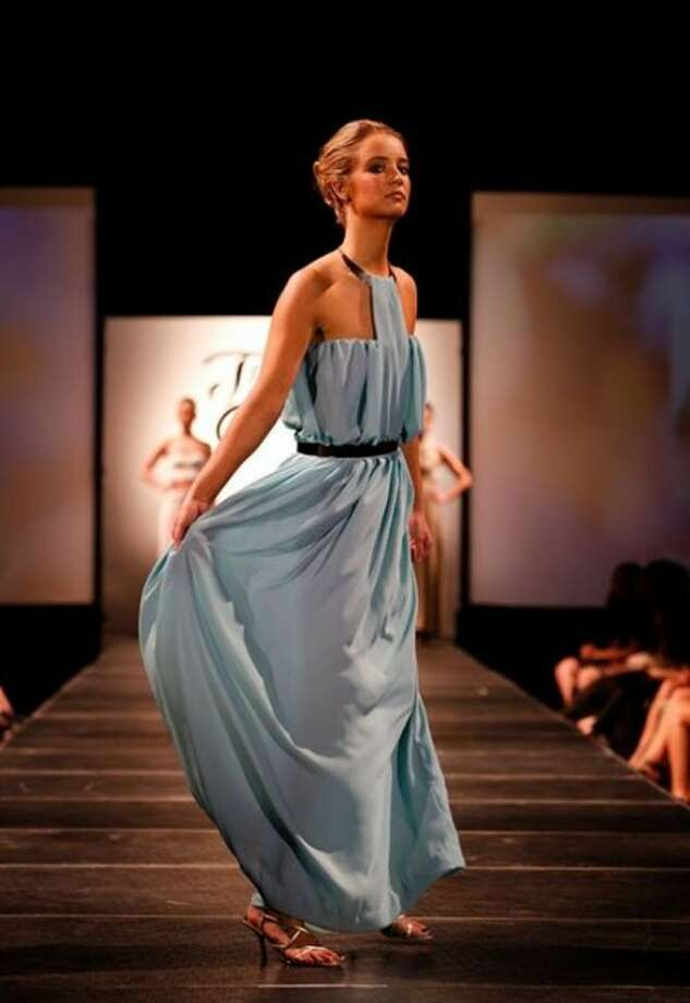 Central Michigan University and Manistee resident Lauren Henry was among the students who participated in the the 17th annual Threads Fashion Show put on at the school. This is the design she created for the show.