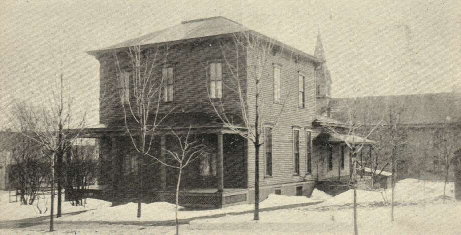 A late 1800s photo of the parsonage at the former St. Mary's Catholic Church in Manistee. (Courtesy Photo/Dale Picardat)