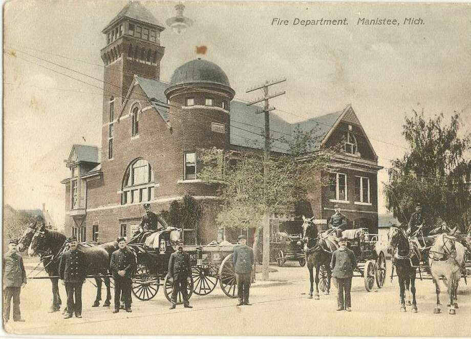 The Manistee Fire Department used horses in the 1890s to pull their engines.