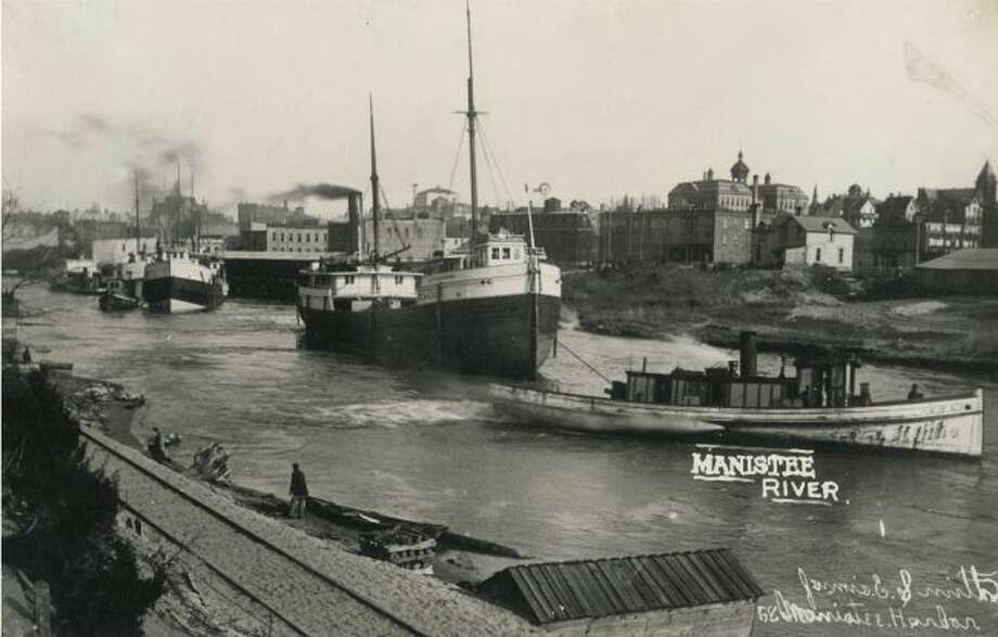 There was a time when the Manistee River Channel was bustling with all kinds of activity in the 1890s as ships provided the main source of transportation and the shipping of goods to other ports around the Great Lakes.