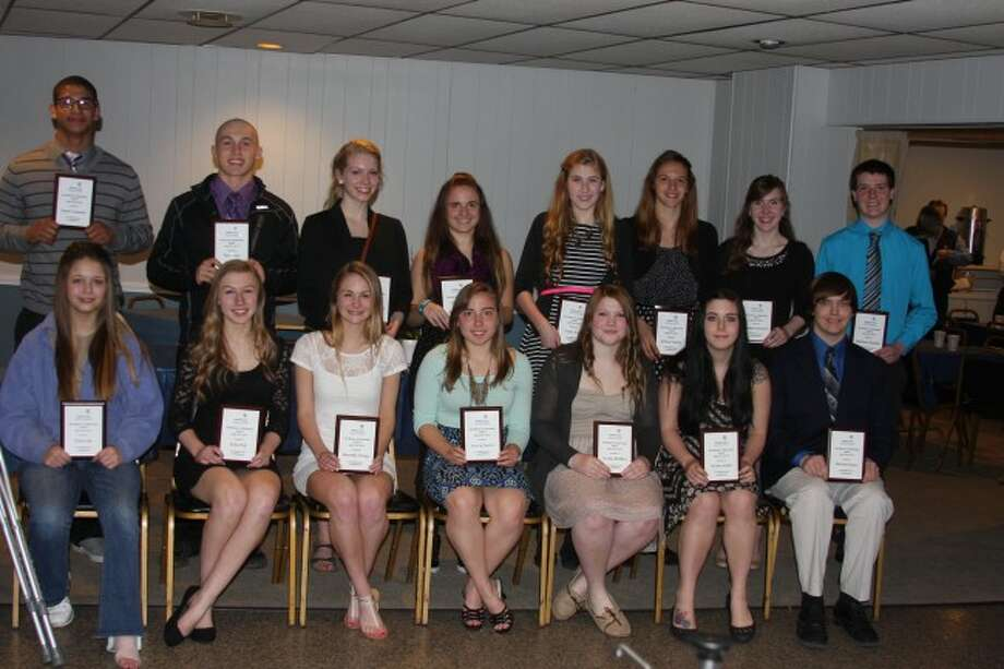 High School students honored along with their mentors in the Excllence in Education awards ceremony included Trista Fair, Erika Hejl, Jennifer Pieczynski, Jessica Cordes, Christa Reiffers, Winter Smith, Michael Stypa, James Connolly, Tyler Dean, Matthew Bauman, Jessica Gustad, Taylor Antal, Janique Berard, Louise Barnard, Hannah Harland, Meghan McComb, Matthew Simmons and Meredith Hengy.