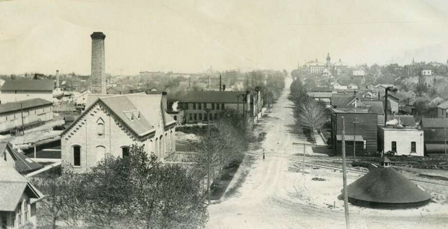 A view of First Street from the top of Creeping Joe sand dune circa 1890.