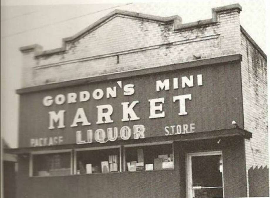 Gordon's Mini Market that was located on Kosciusko Street in Manistee across the street from Herbert Funeral Home is shown in this photograph from the 1970s