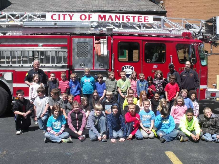 Students from Carol Rackow's class at Brethren Elementary School were given a lesson on how city government works and given a tour of the City of Manistee Fire Department.