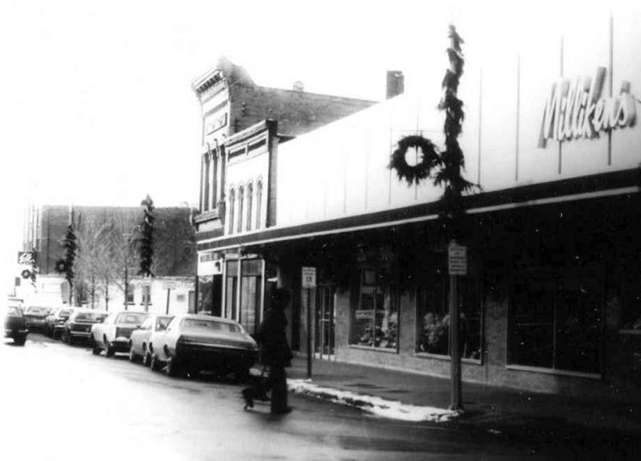 This 1960s photograph shows the Milliken's store that was located on the corner of Maple and River street and featured fine lines of clothing for men and women.