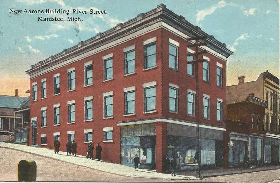 An early 1900s view of the Aarons Building, which is still located at the intersection of River and Greenbush streets in Manistee. (Courtesy Photo/Dale Picardat)