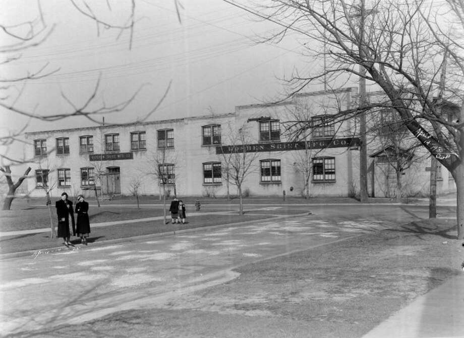 Outside the former Goshen shirt Factory that was located on Hancock Street.