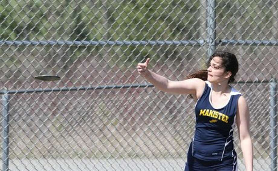 Manistee's Taylor Sikon will compete in the discus in a Division 3 regional meet at Mason County Central today as the Chippewas look to win back-to-back regional titles. (Matt Wenzel/News Advocate file photo)