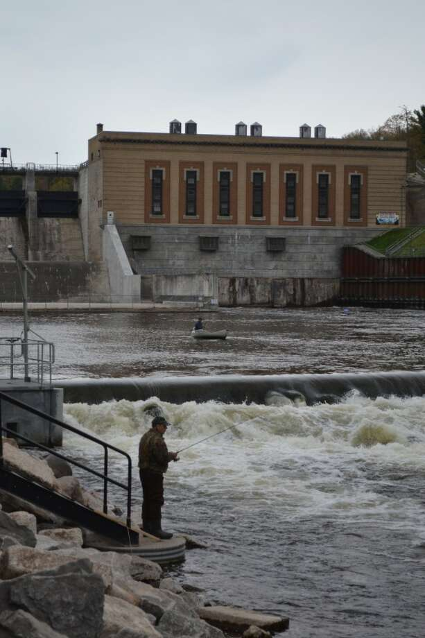 The Manistee River below Tippy Dam offers some of the best salmon and trout fishing in the country during the season. Tippy Dam itself is a hydroelectric facility constructed in 1918 by Consumers Energy. (Meg LeDuc/News Advocate)