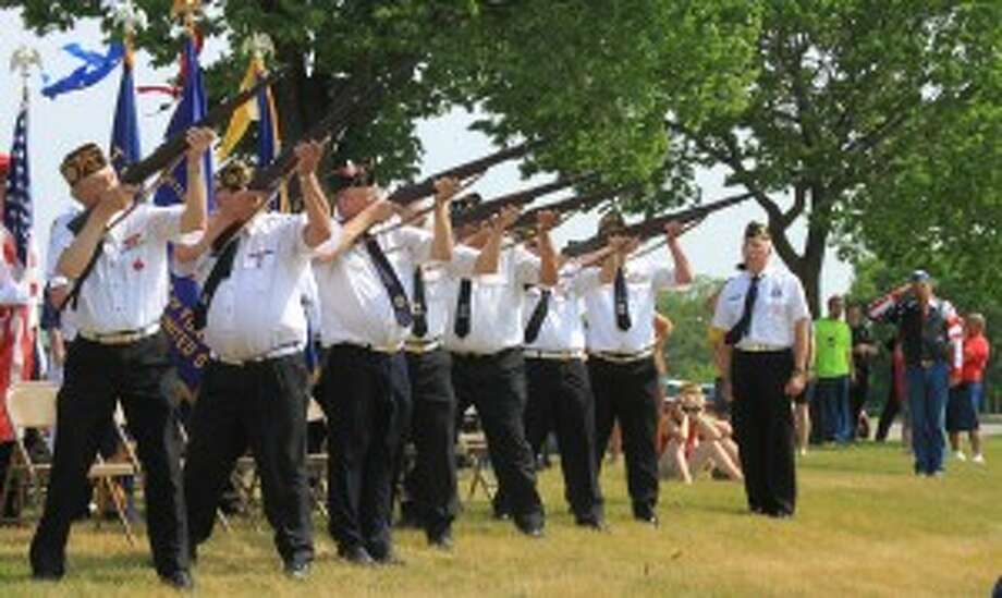 Memorial Day services around Manistee County will feature rifle salutes for fallen war veterans.