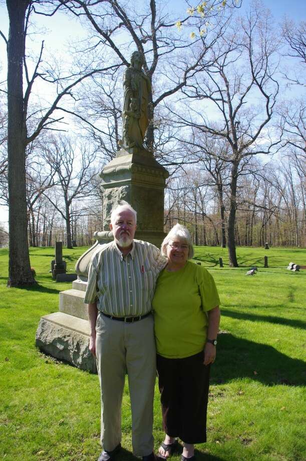 Duane and Susan Coyle will be leading Cemetery Walk: The Women of Oak Grove during the next two weekends at Oak Grove Cemetery, located on Veterans Memorial Oak Grove Drive in Manistee. (Dave Yarnell/News Advocate)