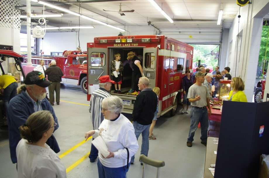 An open house was held at the Bear Lake Township Fire Department on Wednesday evening so citizens could come learn about a proposal to increase taxes by .75 mills to replace aging fire equipment. (Dave Yarnell/News Advocate)