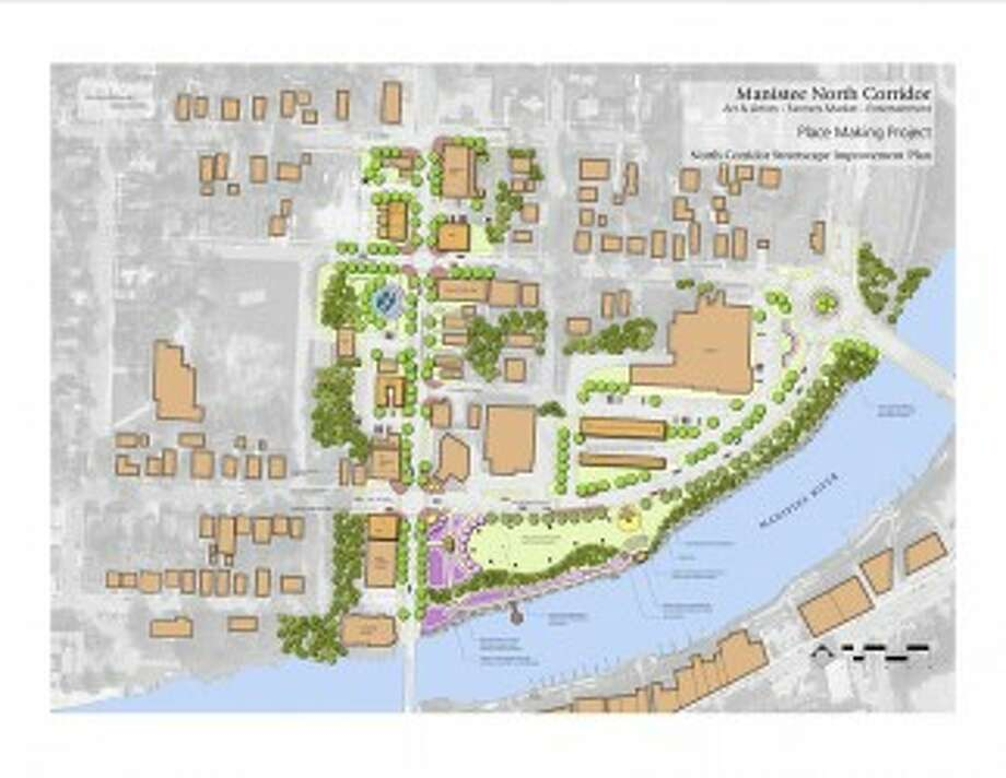 The North Washington Corridor conceptual placemaking project was completed in September 2012 and outlines possible uses for the North Washington area in Manistee.