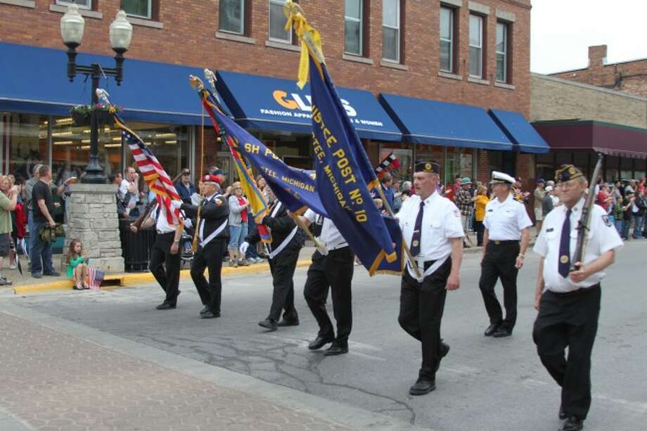 Memorial Day services and a parade were held in Manistee on Monday.