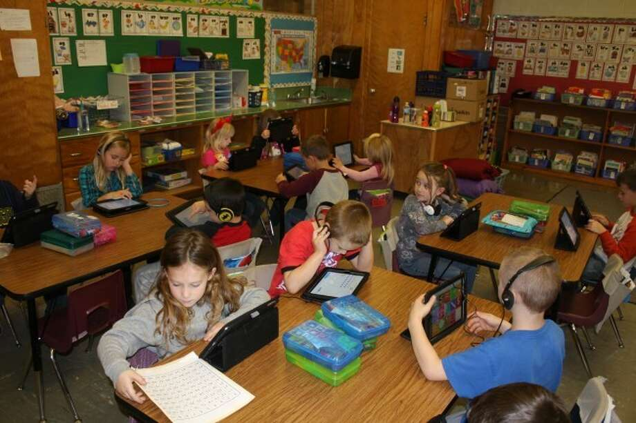 This week the Department of Education released the first data on the M-Step testing that was taken last spring. Most Manistee County students took the the online version of the test. Shown are students at Jefferson Elementary School students taking the test last spring.