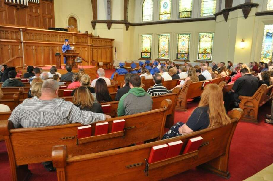 At a ceremony on Thursday, CASMAN Academy graduated eight seniors and sent them to the next steps of their lives. The ceremony was held at First Congregational Church in Manistee.