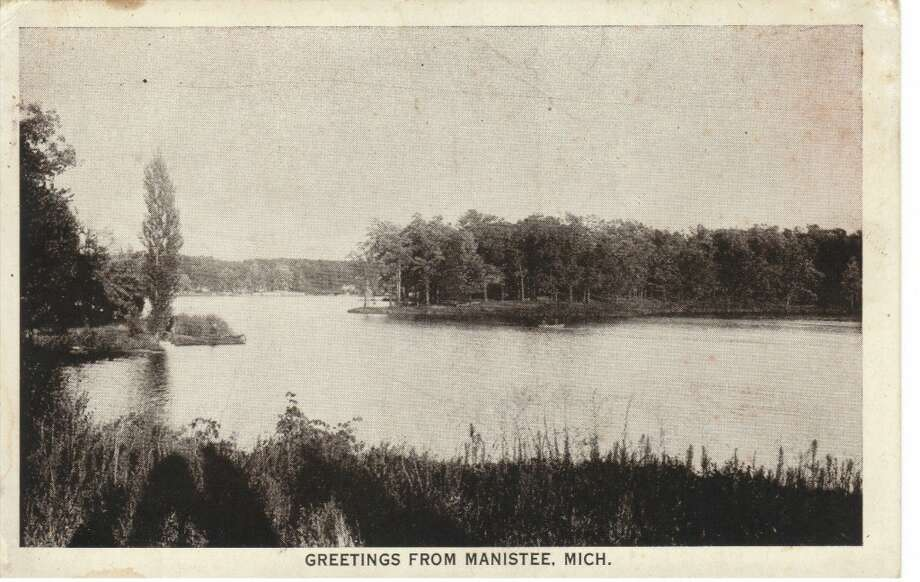 A vintage post card scene showing one of Manistee County's inland lakes. (Courtesy Photo/Dale Picardat)
