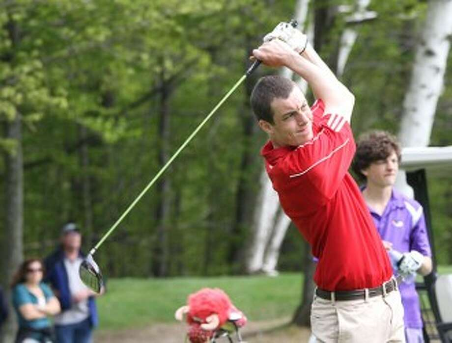 Manistee Catholic Central senior Gabe Toczynski and the Sabers open the postseason today at Muskegon Country Club. (Matt Wenzel/News Advocate file photo)