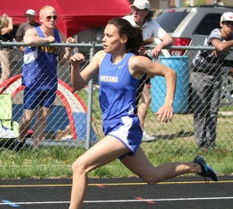 Onekama's Alycia Peterson qualified for the Division 4 state finals in the 200 and as part of three relays. (Dylan Savela/News Advocate file photo)