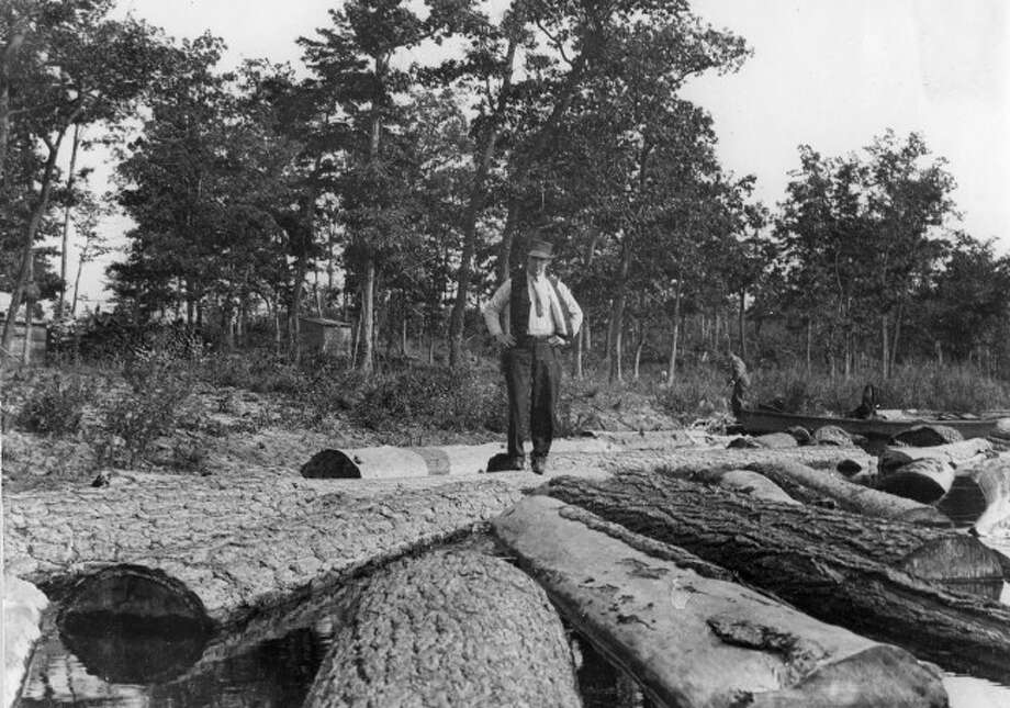 The ability to walk on logs floating in water was a unique trait that had to be learned during the lumbering era times by many who worked for lumber camps.