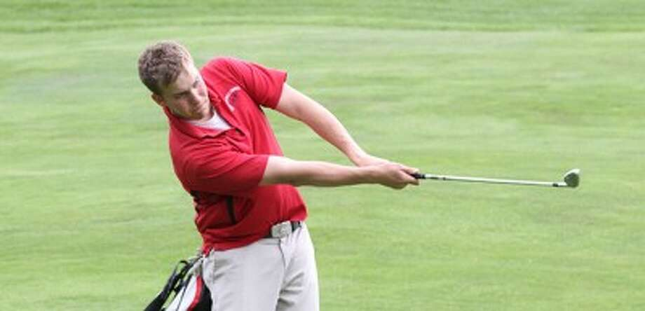 Manistee Catholic Central senior Zack Bialik posted a 74 in a Michigan Open qualifier on Sunday at Treetops' Signature. (Matt Wenzel/News Advocate file photo)