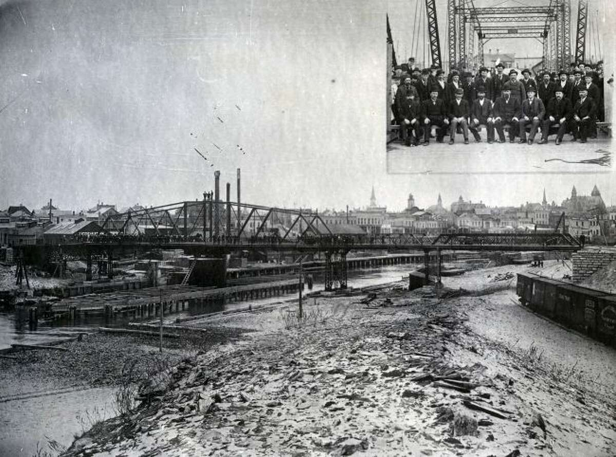 Manistee residents gathered in 1894 for the big celebration to dedicate the Smith Street Bridge.