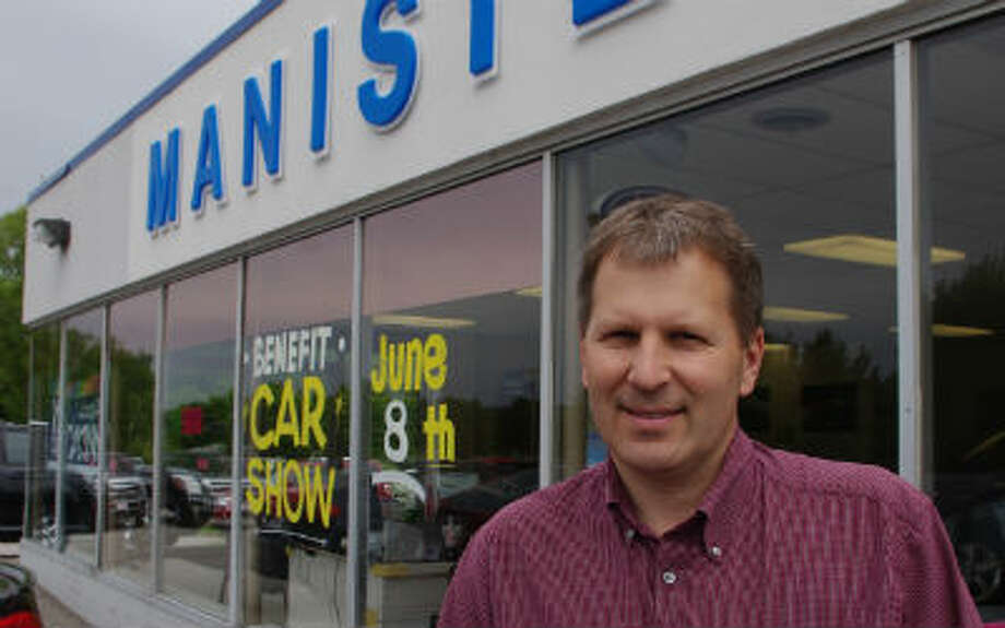 Rob Pepera, Manistee Ford sales manager, is coordinating the fourth annual Manistee Ford Classic Car Show set for 10 a.m. to 1 p.m. Saturday. The event will raise money for early breast cancer detection at West Shore Medical Center. (Dave Yarnell/News Advocate)