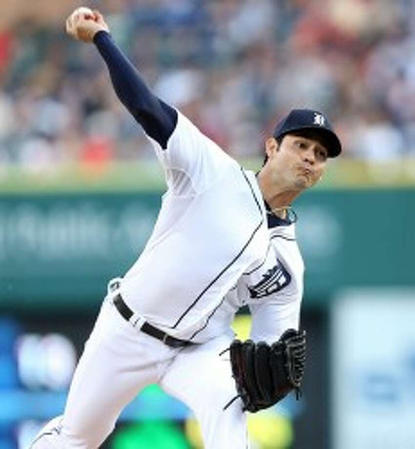 Tigers starter Anibal Sanchez pitches against the Tampa Bay Rays during the third inning on Tuesday. (Kirthmon F. Dozier/Detroit Free Press/MCT)