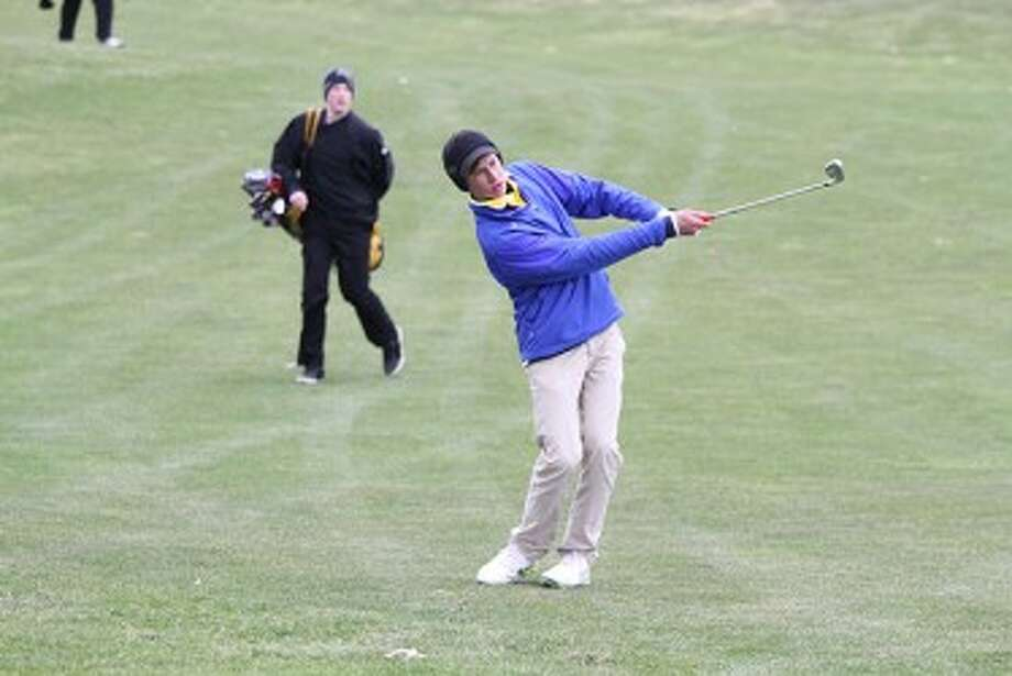 Sophomore Blake Davis shot a 79 to pace the Chippewas in a district tournament last week. Manistee plays in a regional today. (Matt Wenzel/News Advocate)
