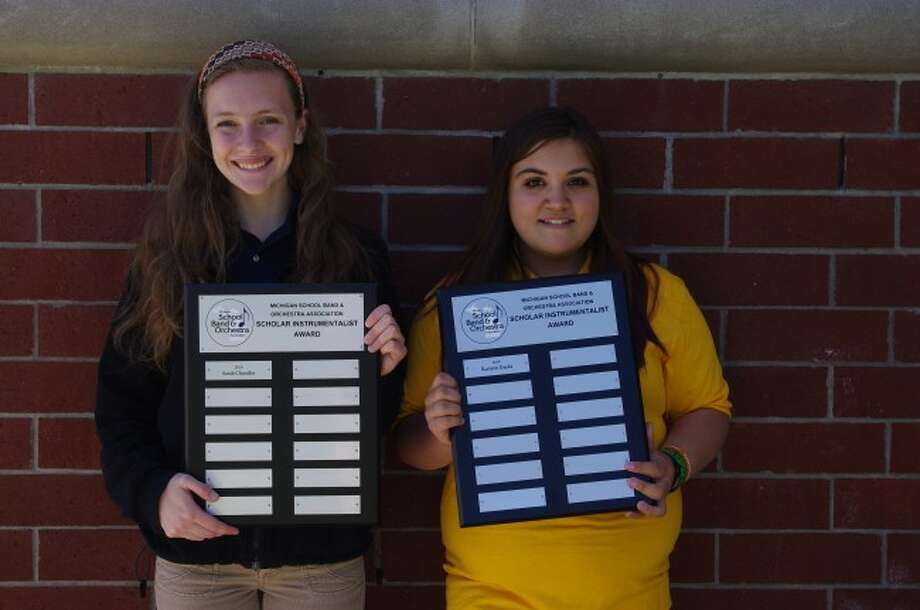 Manistee High School's Sarah Chandler and Manistee Middle School's Raelynn Danks were honored as the first local recipients of the Michigan School Band and Orchestra Association MSBOA Scholar Instrumentalist Award. They joined over 200 students from all over the state in being honored with this award.