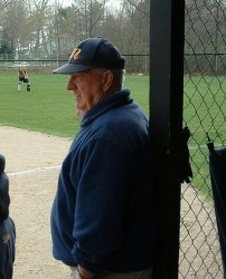 Bob Johnson won 223 games and five district titles while coaching Manistee varsity softball. (Photo courtesy of Justine Blake)