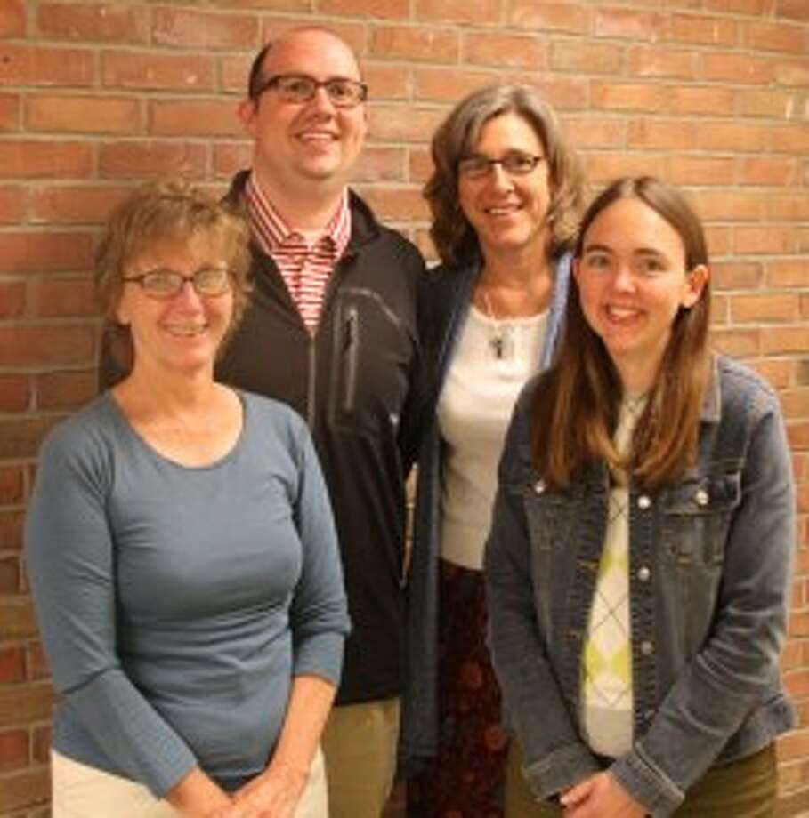 Shown are members of the Manistee Intermediate School District General Education Staff. They include (left to right) Dency Lippert (general education consultant), David Gagstetter (data consultant), Kay Salyer (director of general education), and Kim Rinehart(general education consultant) (Ken Grabowski/News Advocate)