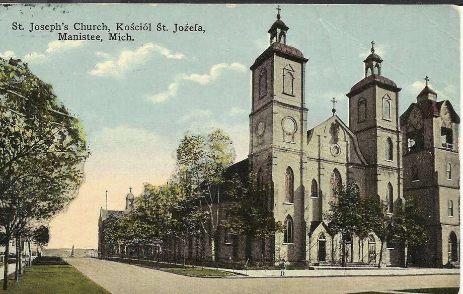 An early 1900s post card showing St. Joseph's Church in Manistee. (Courtesy Photo/Dale Picardat)