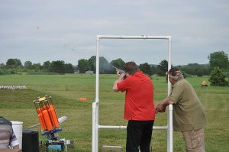 At the opening of the Big Bear Sportsman's Club on Thursday, members of the Manistee Area Chamber of Commerce had a chance to skeet shoot at the club.